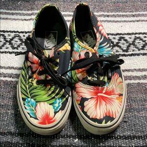 Floral Vans Authentics